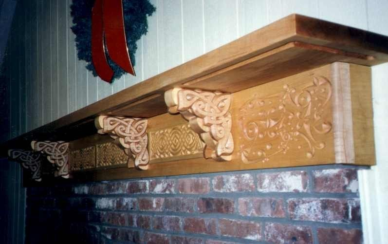 Hand Made Carved Celtic Mantle Pieces By Patrick Gallagher