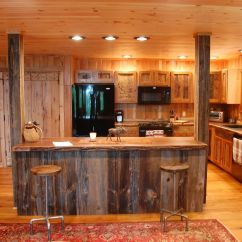 Salvaged Kitchen Cabinets Freestanding Island Custom Made Reclaimed Wood Rustic By