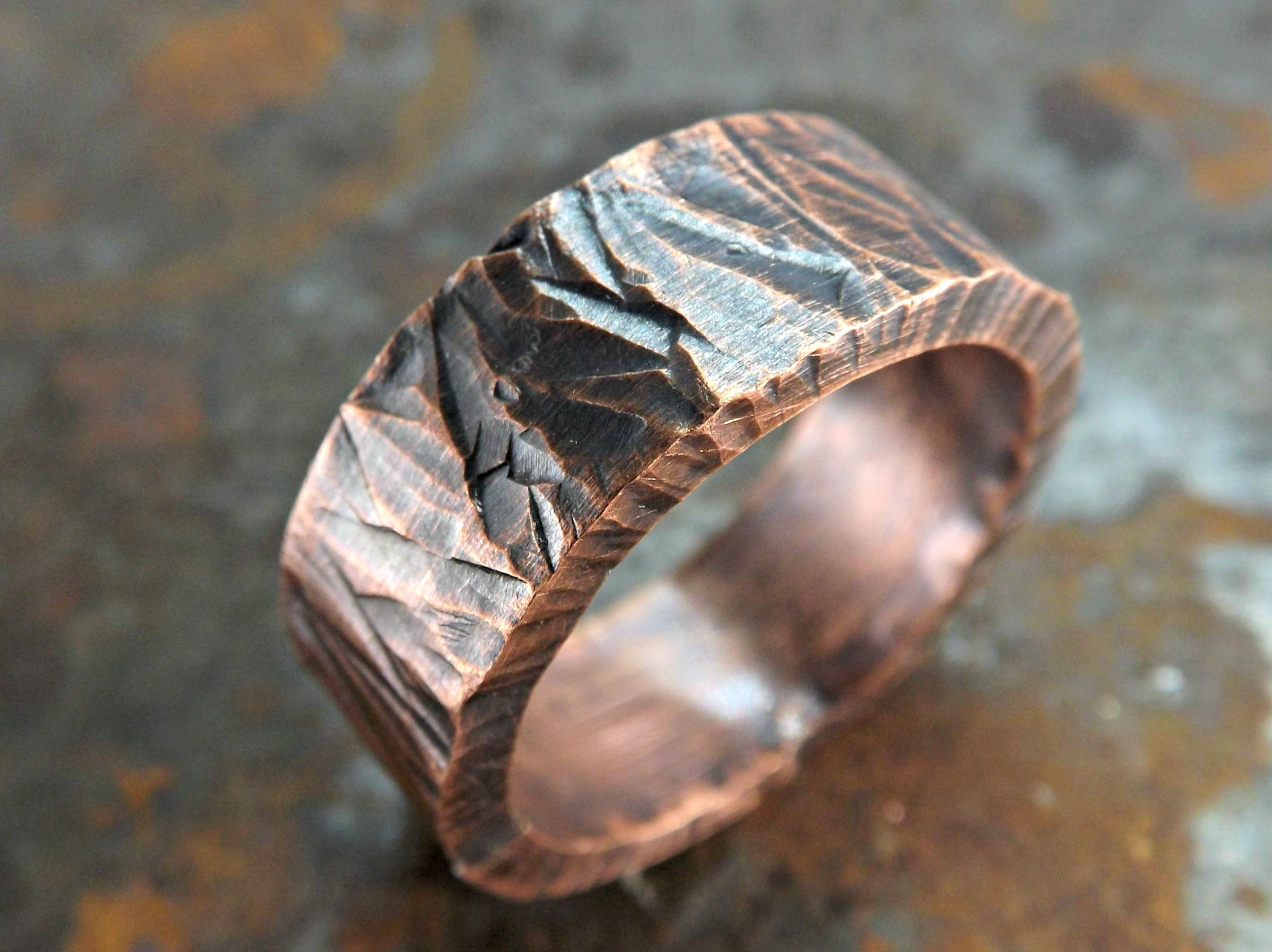 Buy A Hand Made Wide Mens Ring Copper Bold Copper Ring