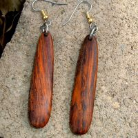 Custom Wood Earrings Of Cocobolo, Very Lightweight..L010 ...