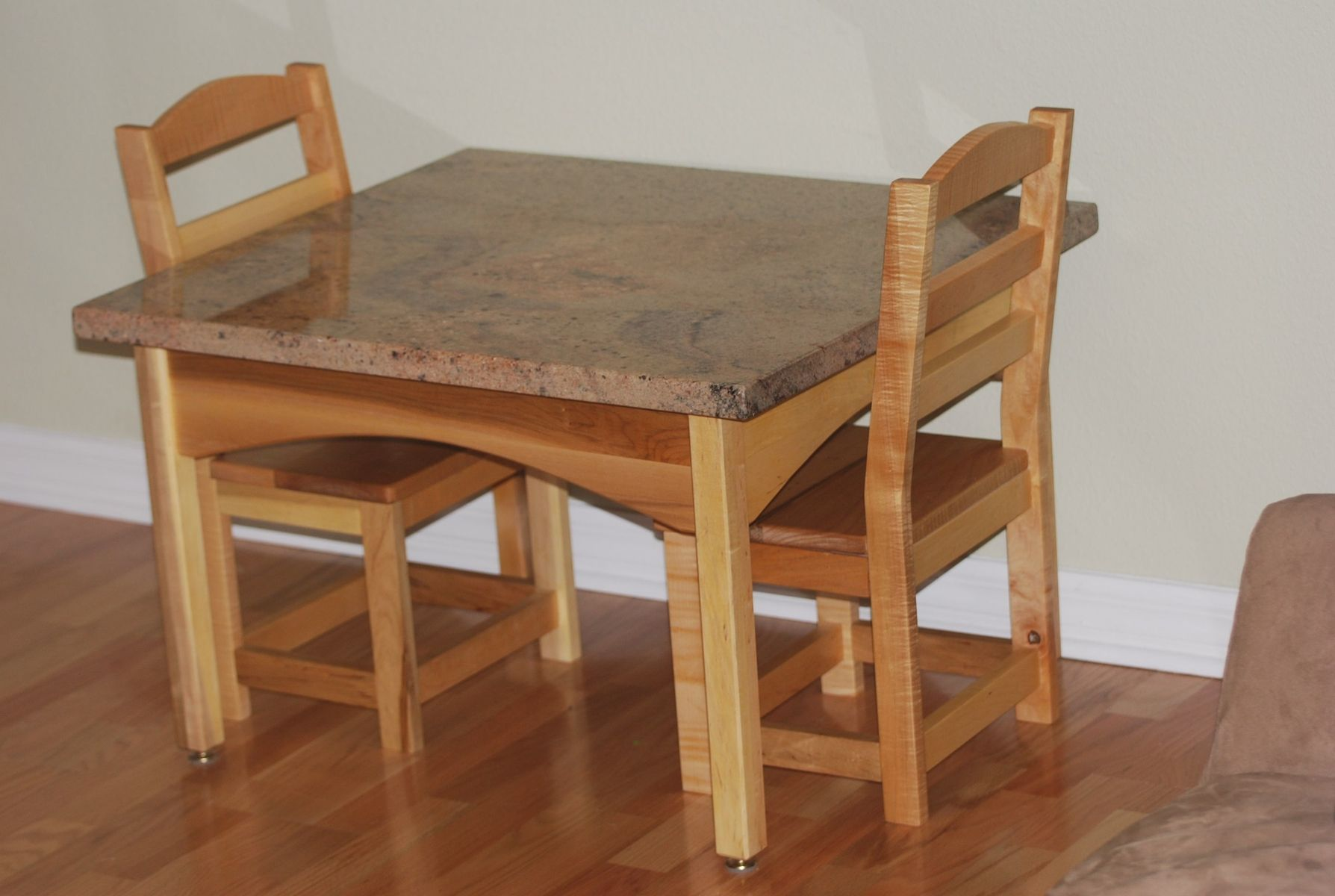 Kids Wooden Table And Chairs Hand Crafted Childrens Table And Chair Set By Memphis