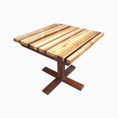 Kitchen Table Base Outdoor Summer Ideas Buy A Hand Made Butcher Block With Reclaimed Wood Custom Pedestal