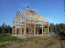 Timber Frame Pole Barn House