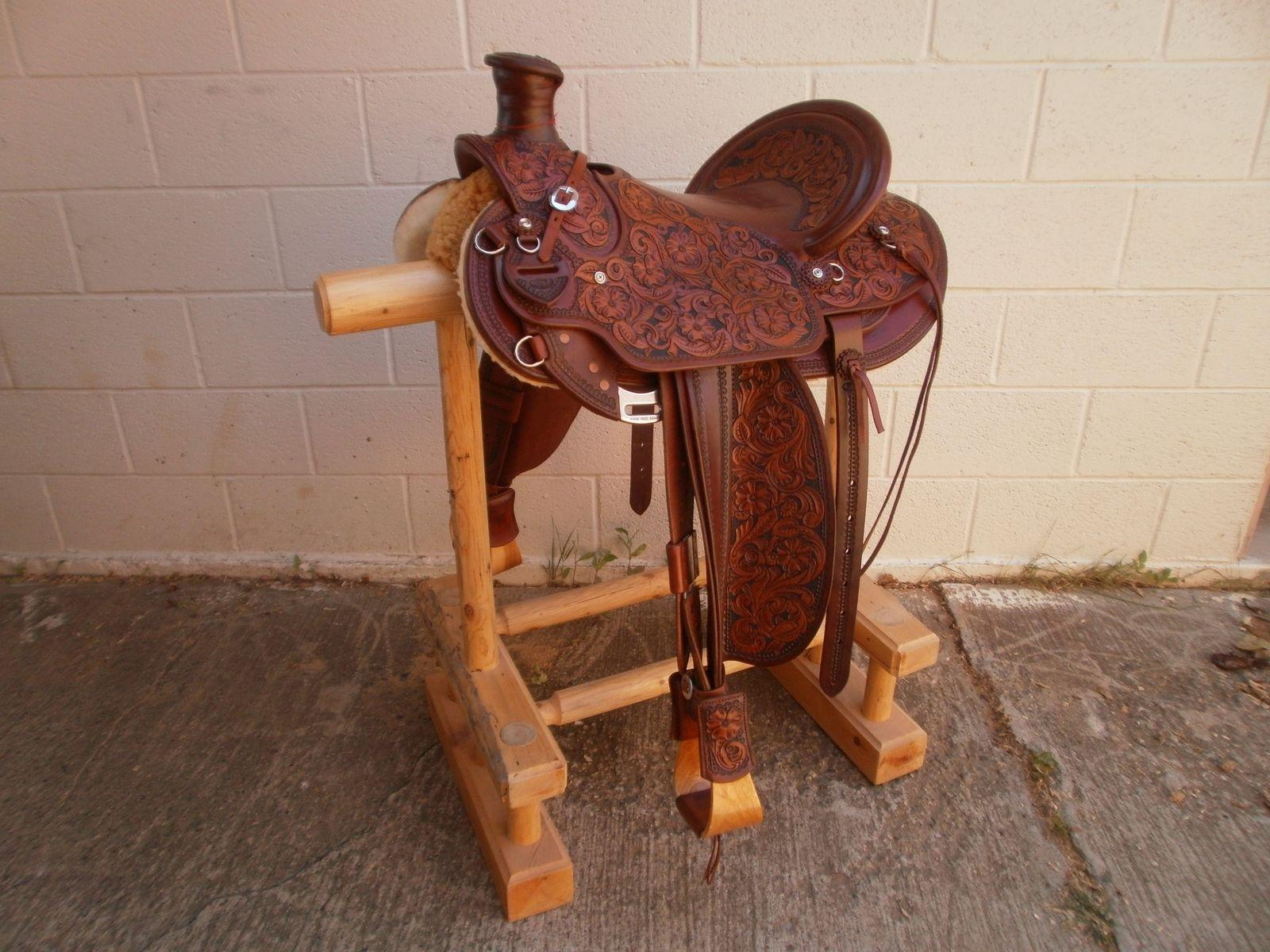 Hand Made Custom Made Wade Tree Saddle By 2nd Chance Custom Leather
