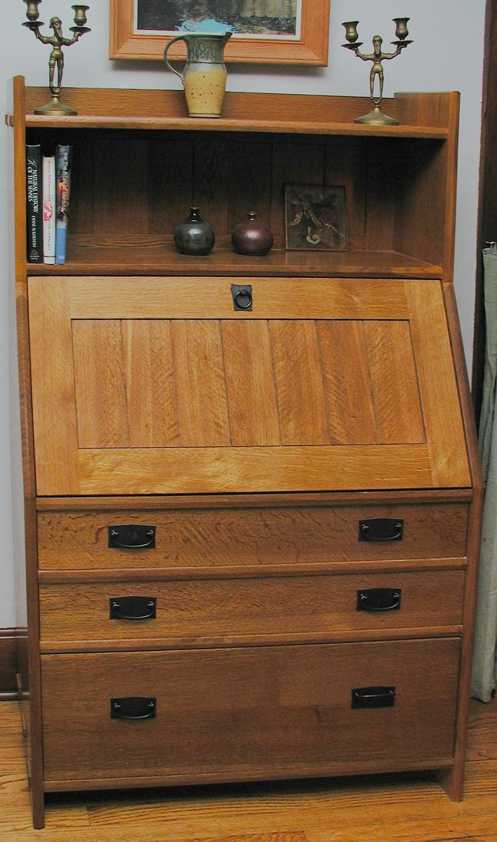 Hand Crafted Arts  Crafts Fall Front SecretaryDesk by