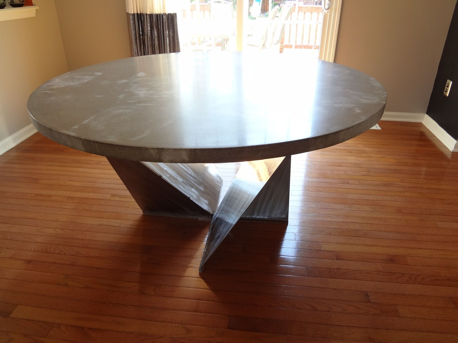 Custom Dining Room Table Kitchen Table by Rock And A Hard