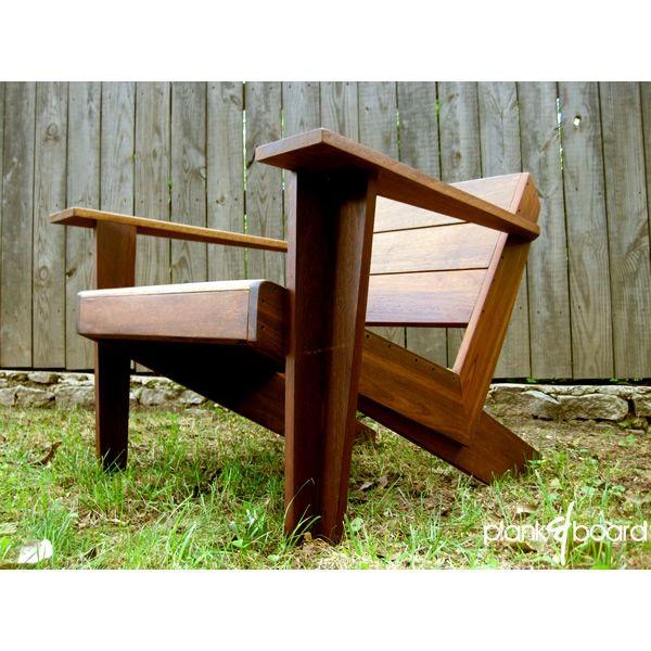 Custom Made Modarondack  Modern Adirondack Chair by Plank