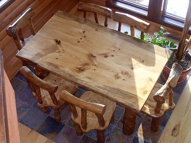 Rustic Pine Dining Table Trend Room Sets For Kitchen