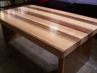 Handmade Striped Coffee Table by American Woodworks ...
