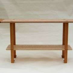 Custom Made Sofa Tables Modern Living Room Handmade Cherry 43 Curly Maple Console Table By Corwin