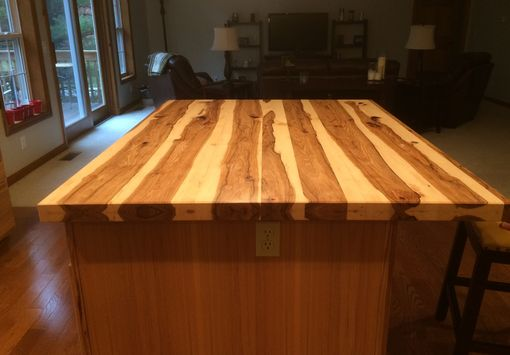 hickory kitchen island cheap cabinets nj handmade solid bar top / by glessboards ...