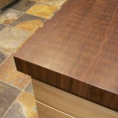 Industrial Kitchen Hardware Cabinets Kings Hand Made Walnut End Grain Butcher Block Top & Live Edge ...