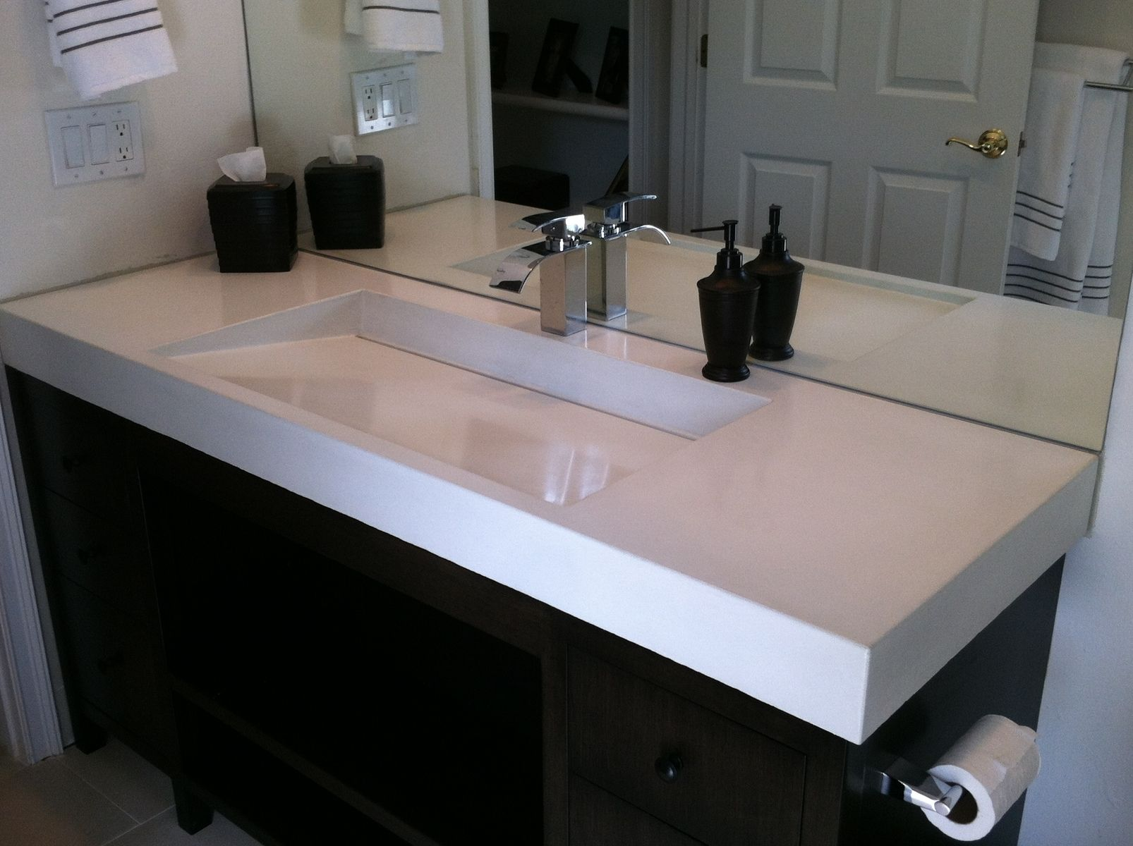 concrete kitchen sink aid professional hand crafted ramp by béton studio