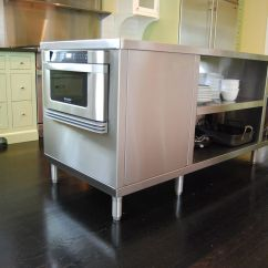 Kitchen Cart Stainless Steel Outdoor Cabinet Doors Hand Crafted Islands By Custom