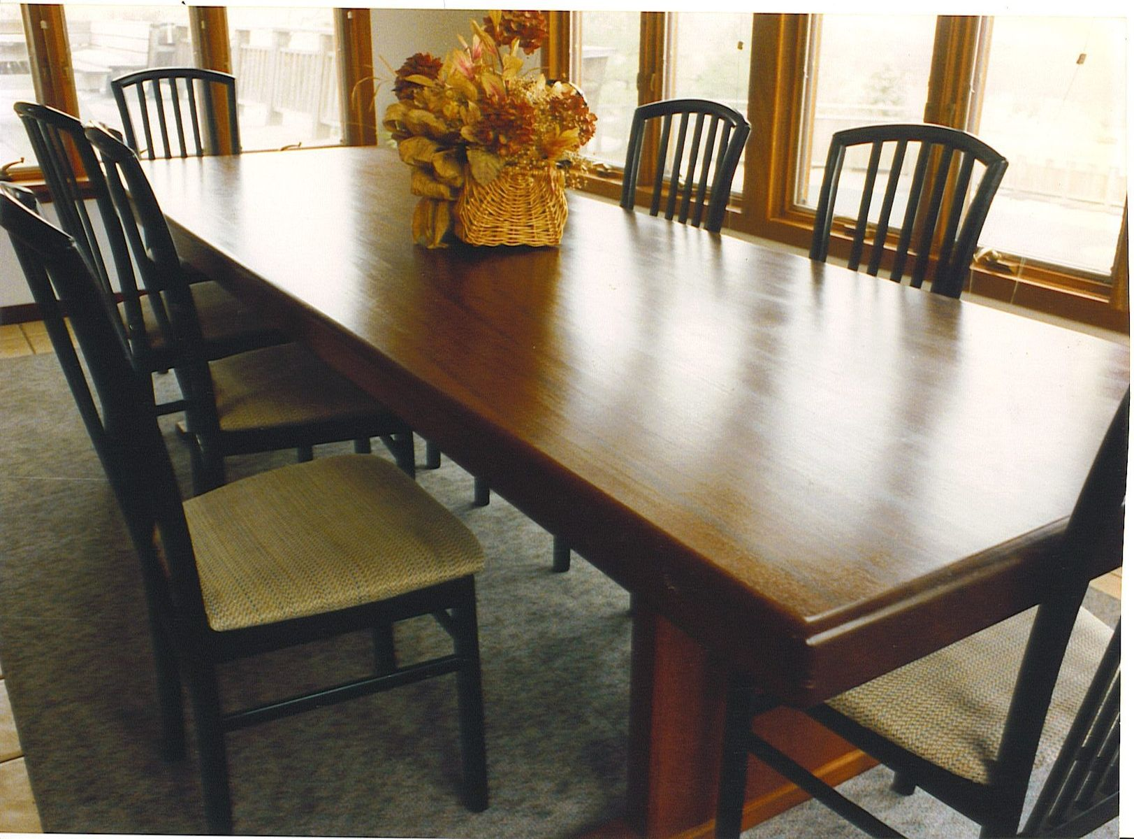 Hand Made Dining Room Table by Cabinetmaker Birdie Miller