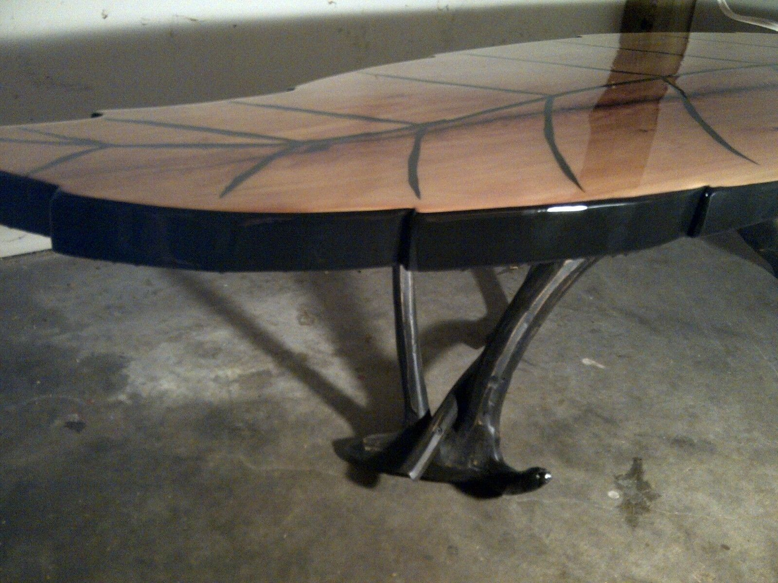 Leaf Shaped Dining Table