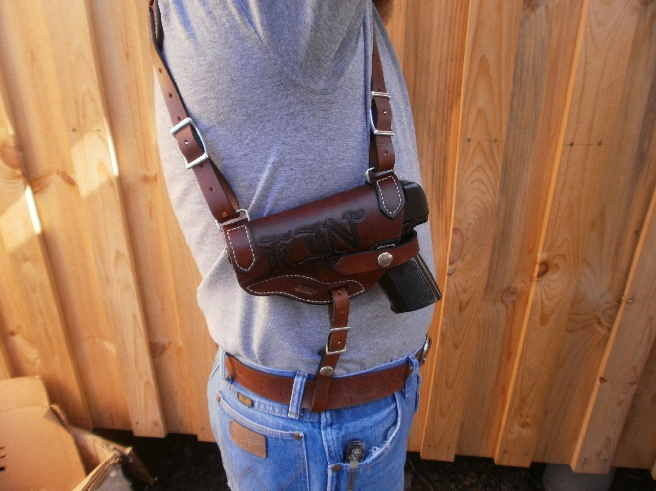Custom Shoulder Holster By 2nd Chance Custom Leather