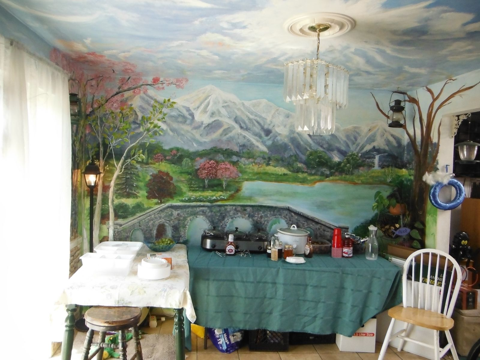 kitchen wall murals large pantry hand made dining room mural floor to ceiling by