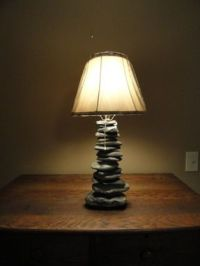 Hand Crafted Stacked Stone Lamp by Stone Lamp Guy ...