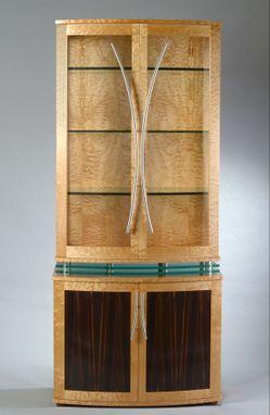 Custom Made China Cabinet Art Deco Style Modern Display