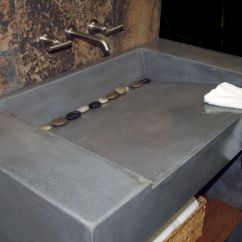 Concrete Kitchen Sink Trolley Cart Custom Vanity And By Coastal Design
