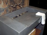 Custom Concrete Vanity And Sink by coastal concrete design ...