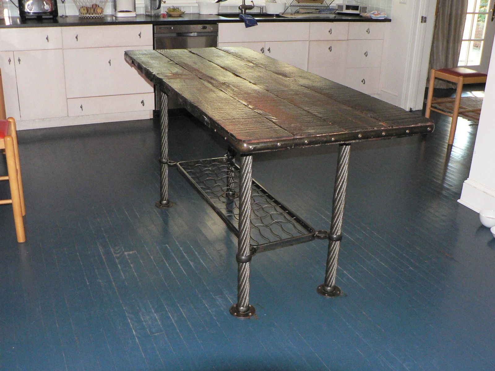 metal kitchen tables corner sinks for sale hand crafted o brien table by modern work llc custom made