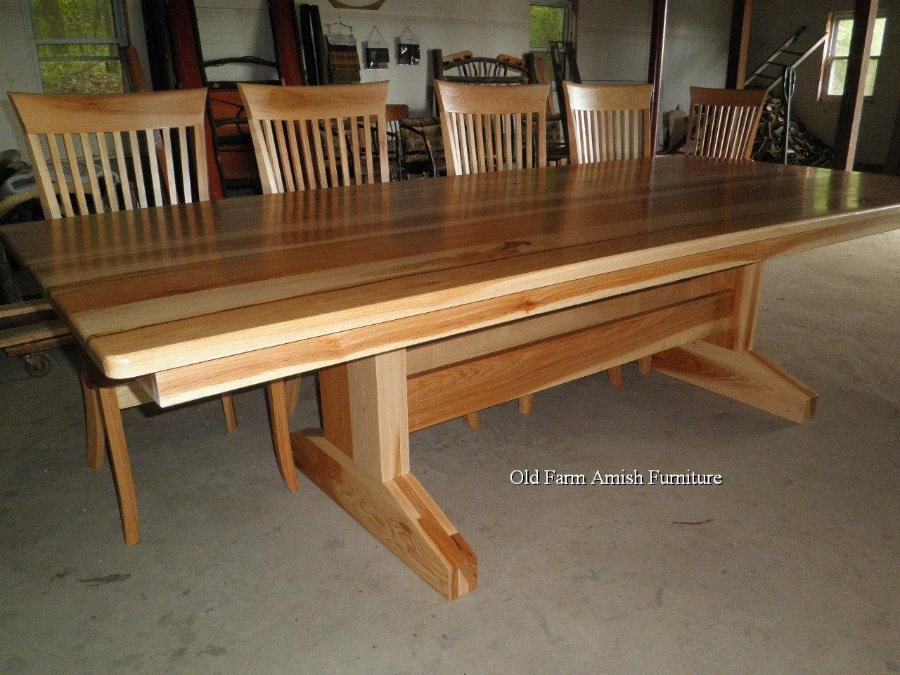 amish kitchen tables wicker stools custom dining room table chairs by old farm furniture made