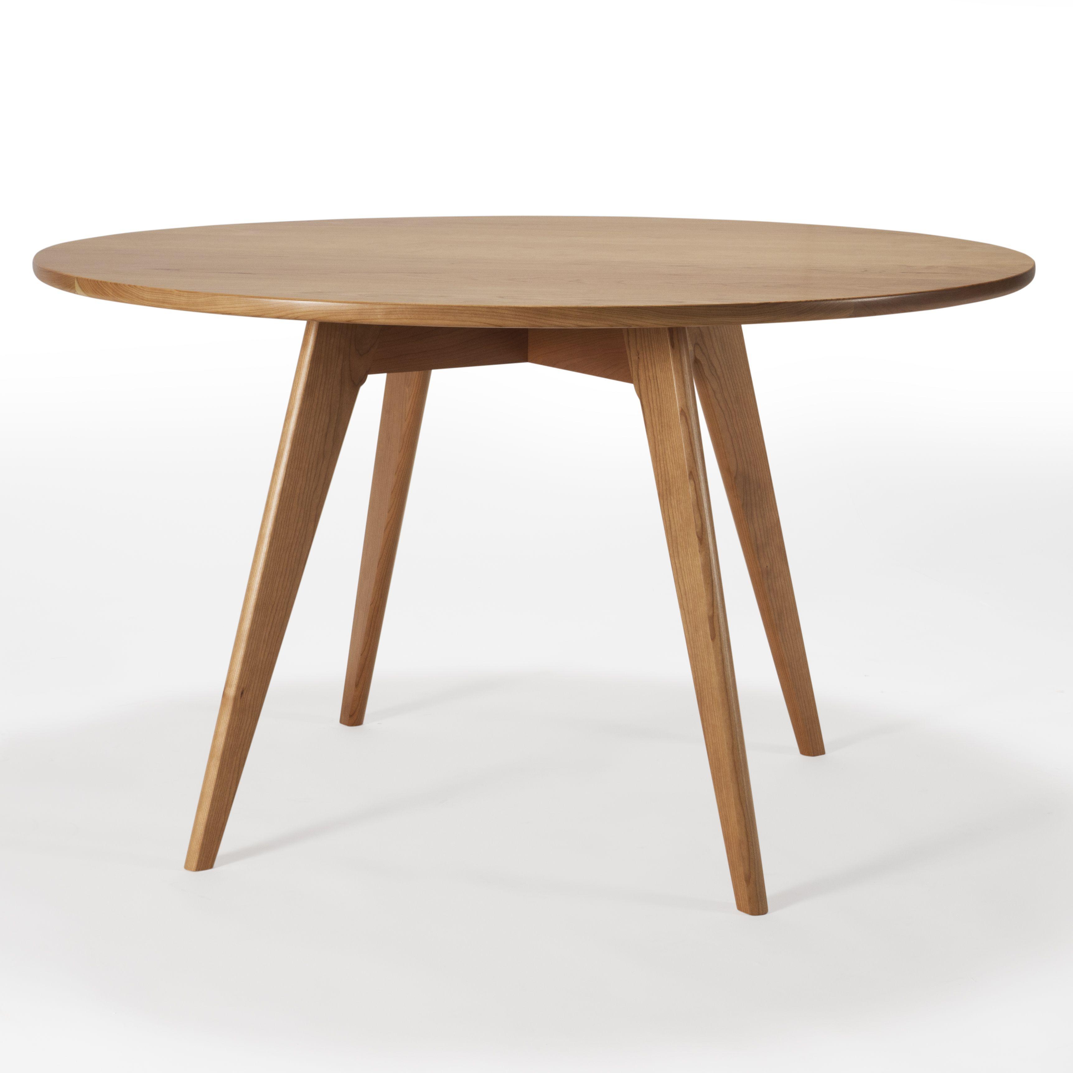 Hand Crafted Round Kitchen Table Mid Century Modern