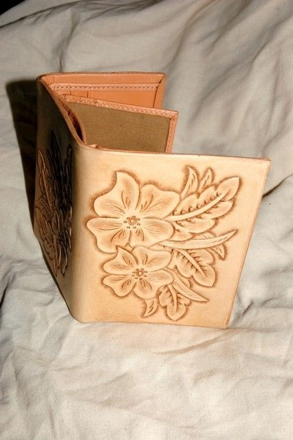 Custom Hand Tooled Leather Wallet by Lone Tree Leather