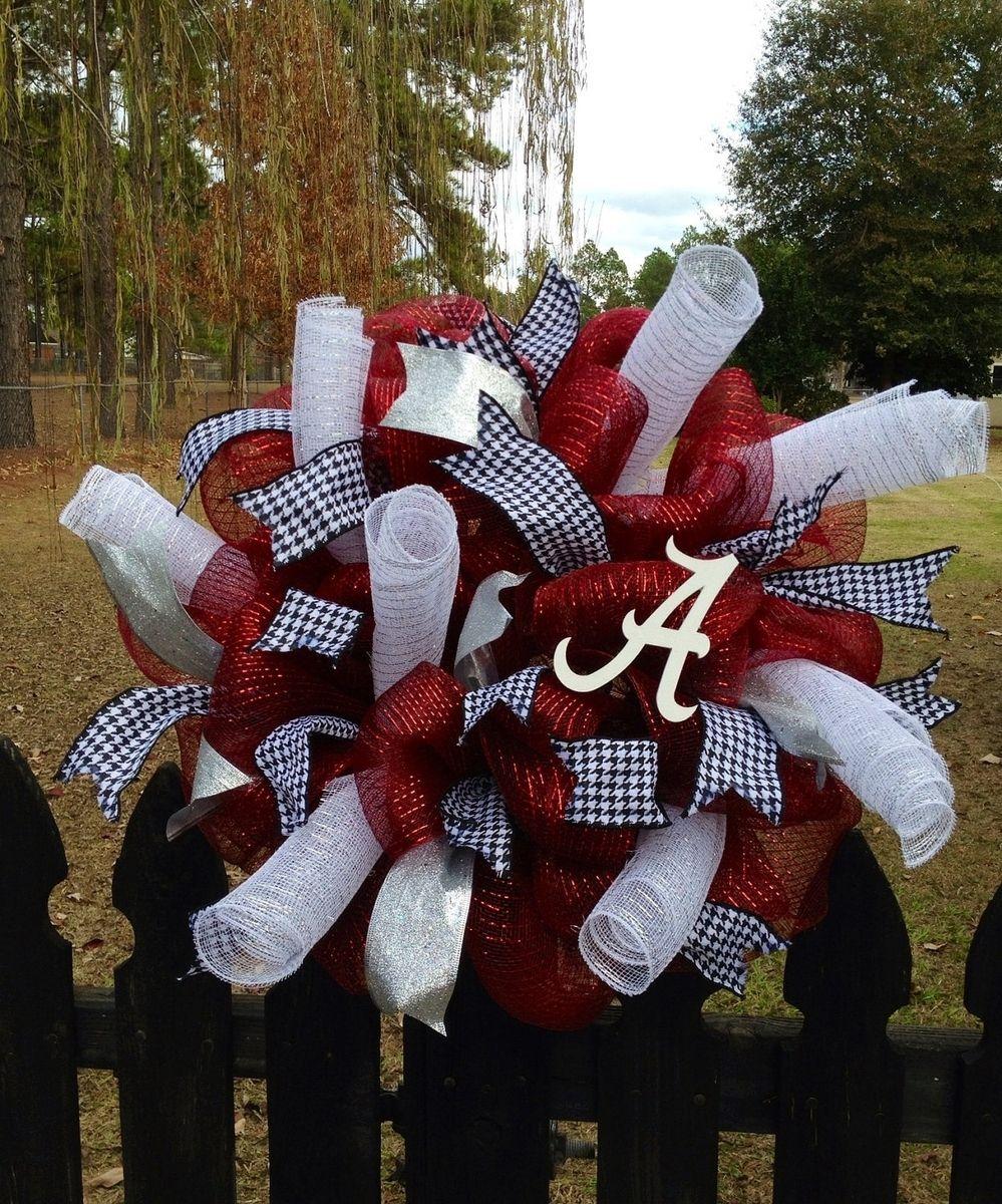 Custom Made Alabama Wreath By Taz Creations