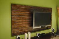 Hand Made Macassar Ebony Wood Wall Tv Panel by Paradigm ...