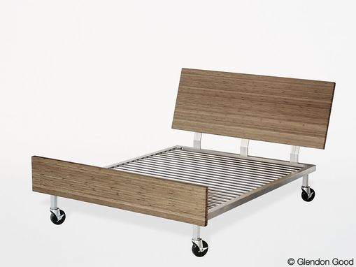 Custom Made Aluminum And Bamboo Bed Frames By Glendon Good