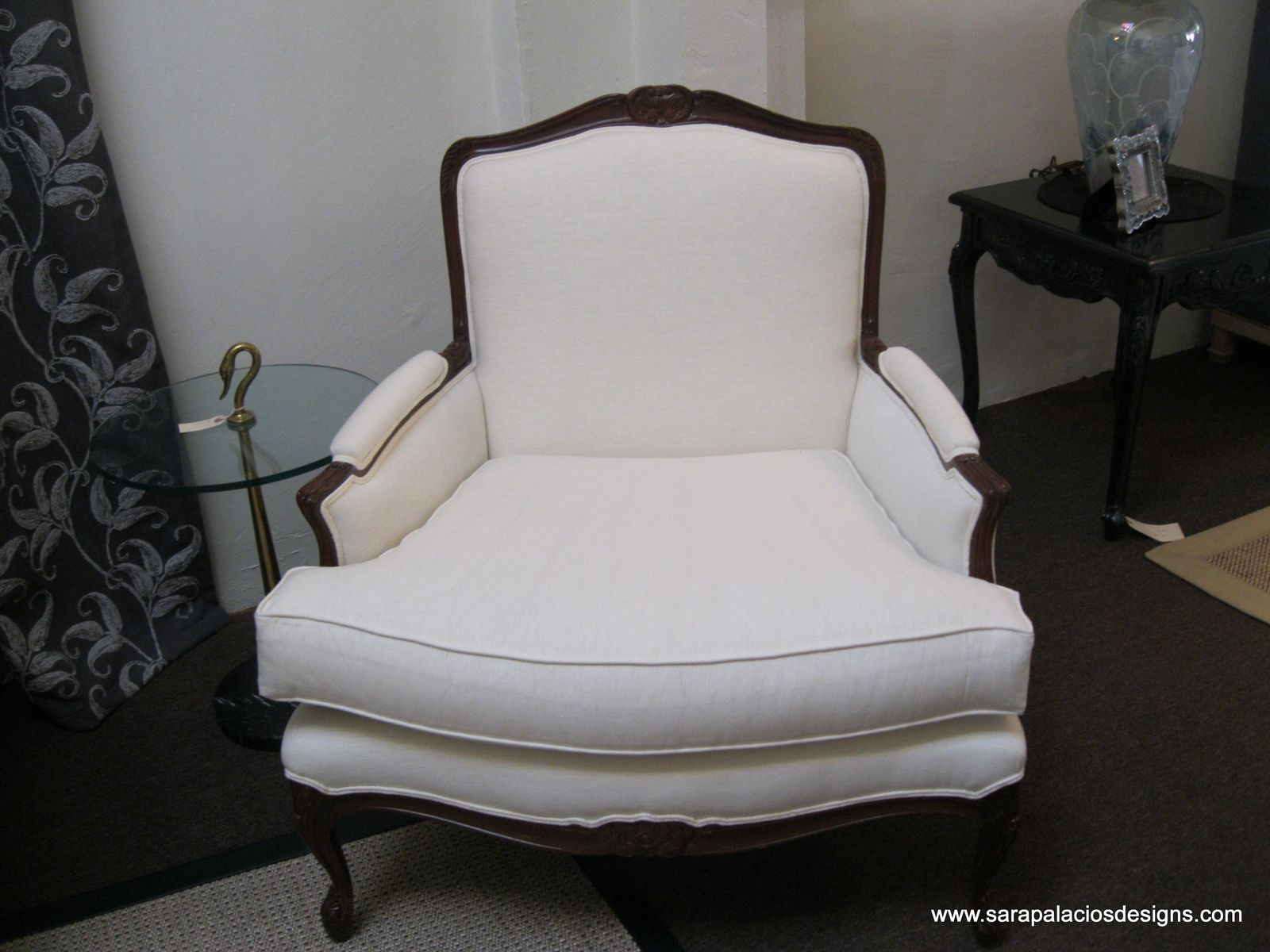 custom made throne chairs ergonomic chair miller luxe upholstered bergere by sara