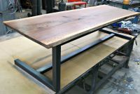 Hand Made Walnut And Steel Contemporary Coffee Table by ...