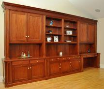 Hand Traditional Mahogany Wall Unit Home Office Desk