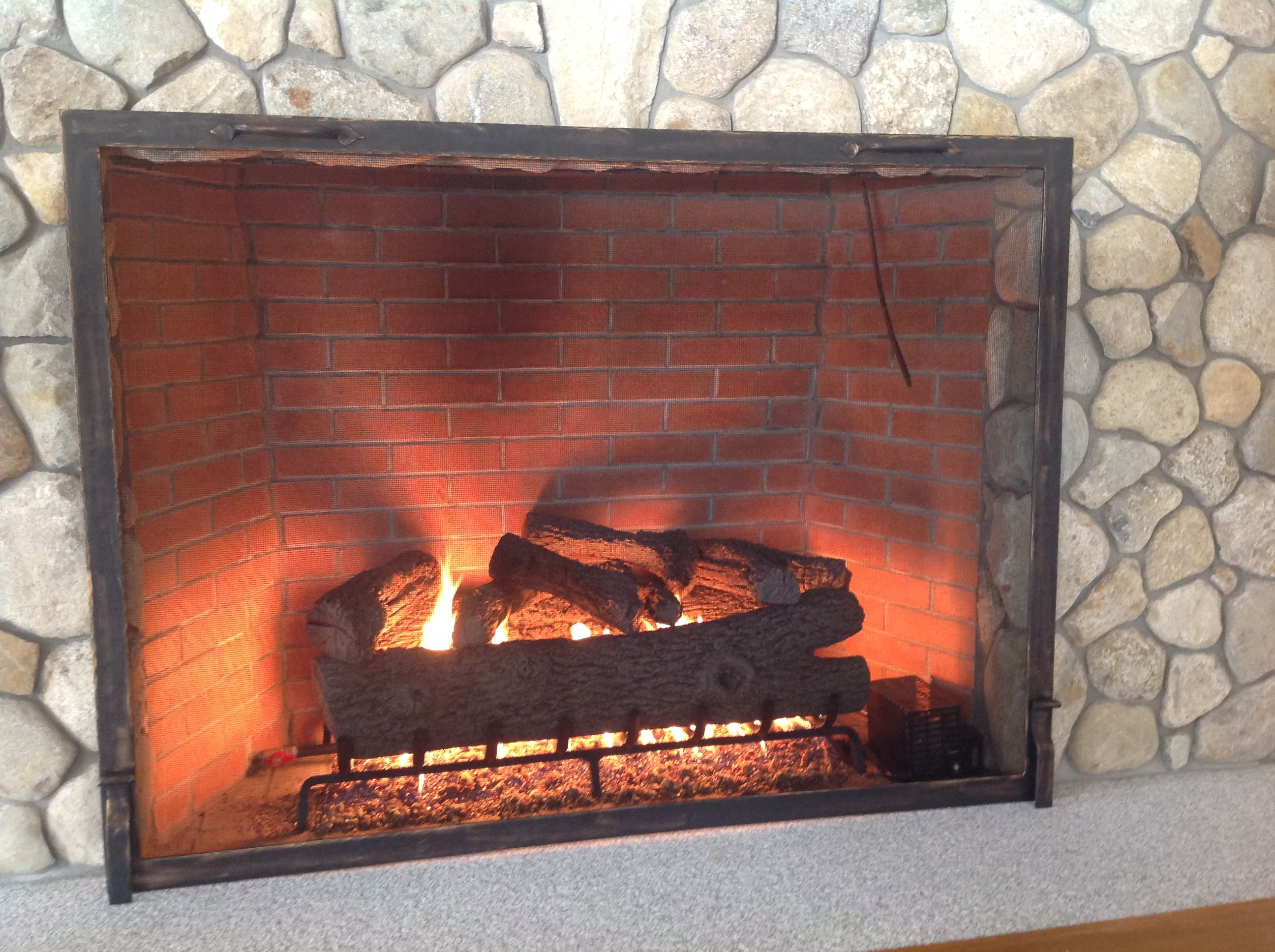 Buy a Hand Made Custom Textured Fireplace Screen made to order from Iron It Out  CustomMadecom