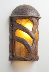 Hand Made Tree Branch Terra Cotta And Mica Wall Sconce by ...