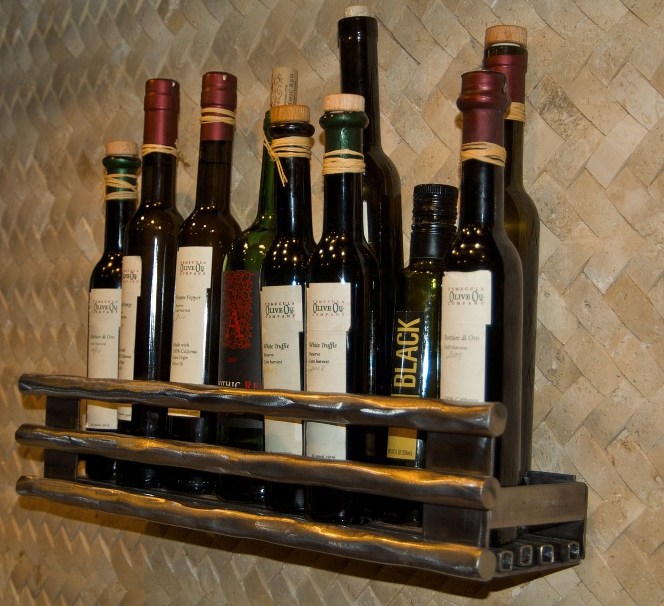 Custom Gourmet Olive Oil Rack By Intrigue Custom Creations