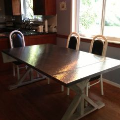Steel Kitchen Table Kohler Single Handle Faucet Repair Handmade Custom Hammered Stainless Dining By Bk Renovations Inc Custommade Com