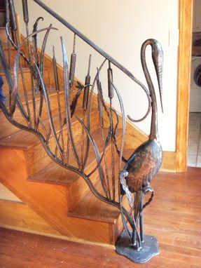 Hand Made Oak Hill Iron Hand Forged Interior Railing