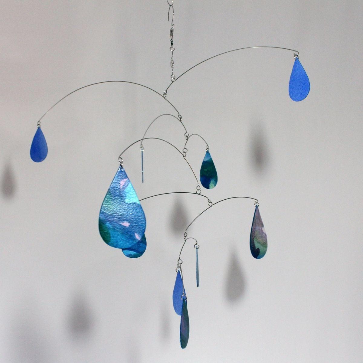 Hand Made Rain Raining Rain Art Mobile Spring Shower