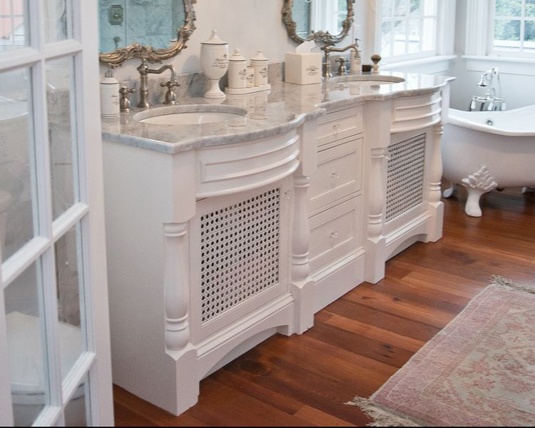 Hand Crafted Raleigh White Bathroom Vanity By Cadolino Custom Woodworking Llc Custommade Com