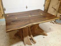 Hand Live Edge Black Walnut Dining Room Table Bois
