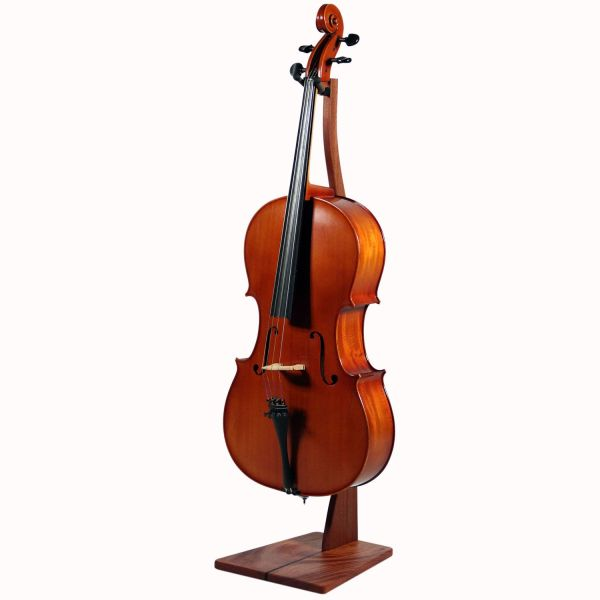 Custom Wooden Cello Stand - Mahogany Walnut Maple