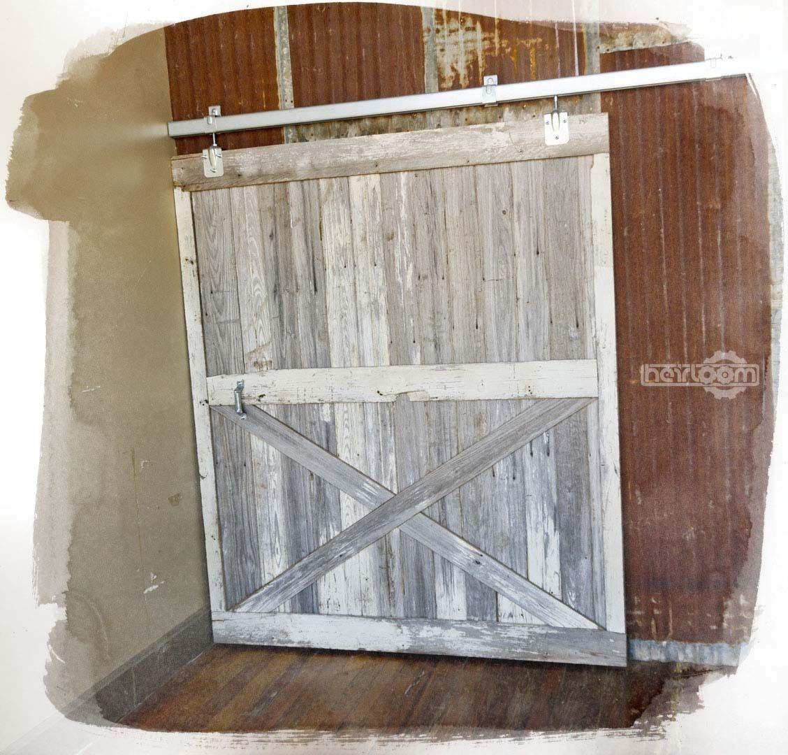 Custom Made Reclaimed Barn Wood Sliding Barn Door by