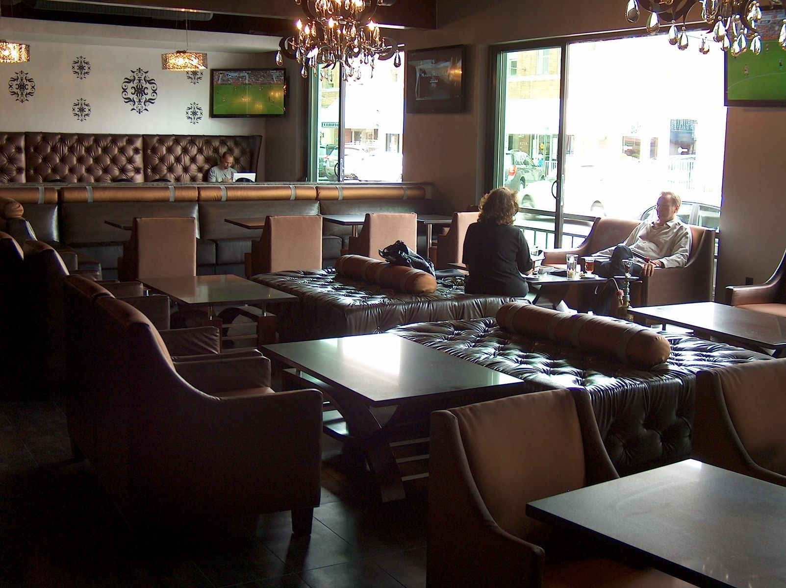 industrial style living room furniture black grey and cream ideas custom hookah lounge restaurant by access designer ...