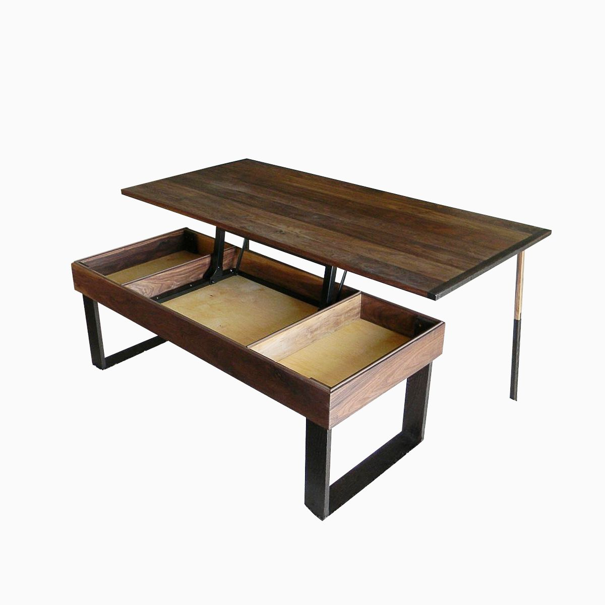 Hand Made Terry S Lift Top Pop Up Walnut And Wenge Transformer Coffee Table By Jonathan Walkey Furniture Maker Custommade Com