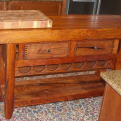 Wine Rack Island Kitchen Refinishing Cabinets Cost Hand Crafted With By Lonestar