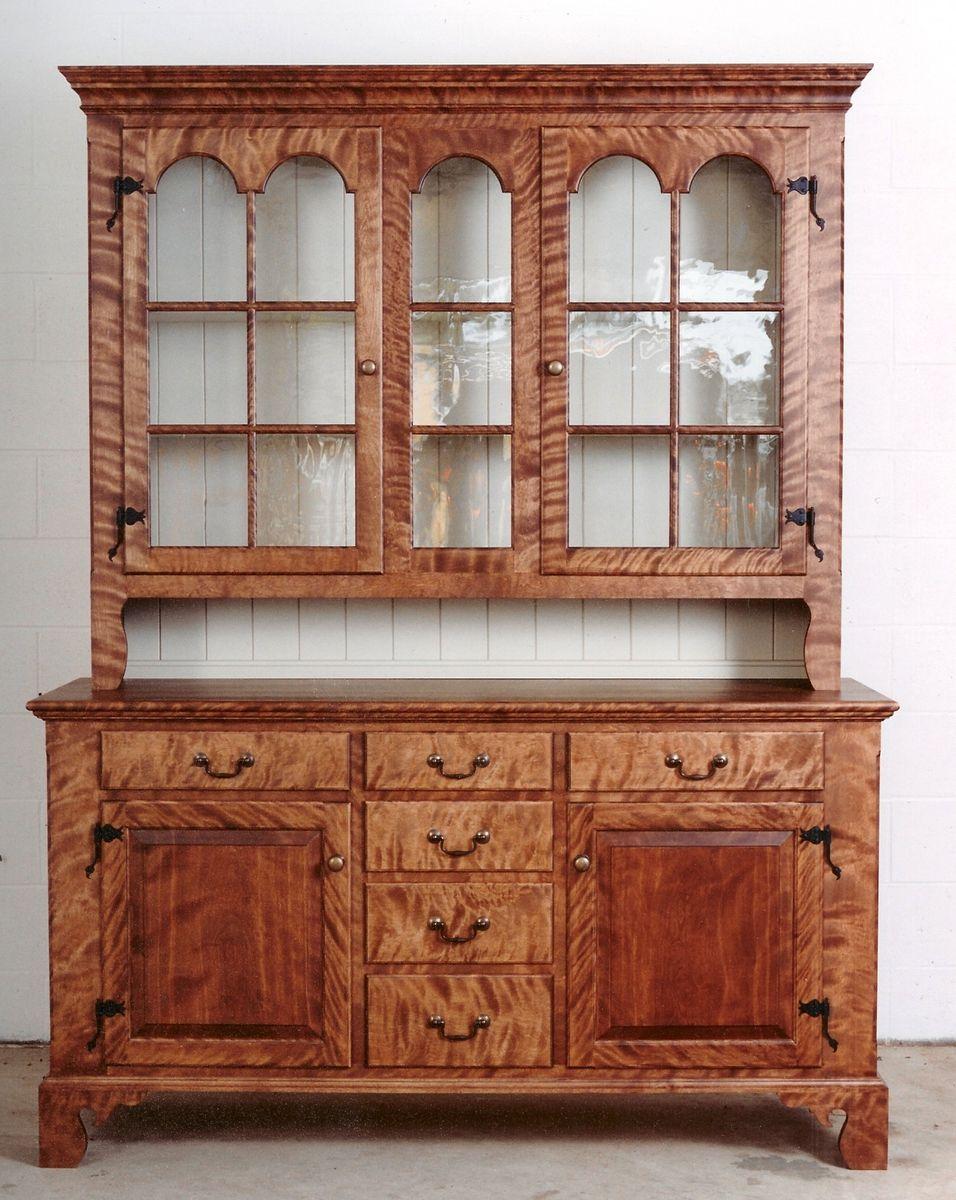 Handmade Pennsylvania Dutch Stepback Cupboard by Taylor
